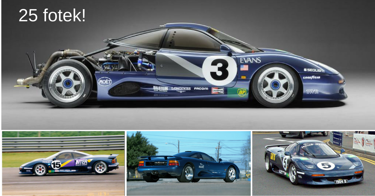 Jaguar XJR-15 - zapomenutý supersport