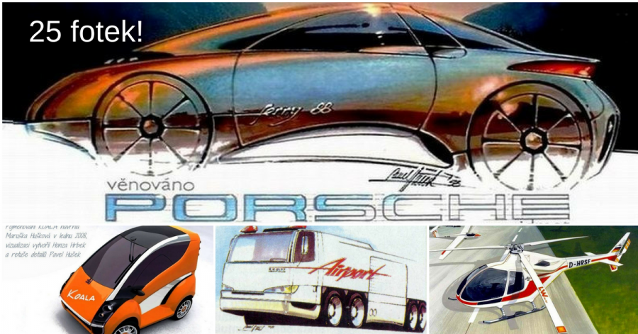 Designér Pavel Dušek - po jeho návrzích toužily nejlepší světové automobilky