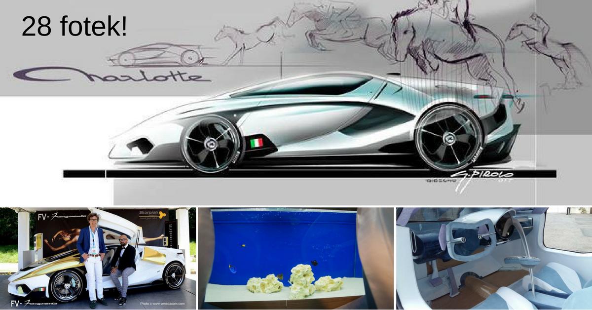 Frangivento Charlotte Roadster - extravagantní vůz se zabudovaným akvárkem