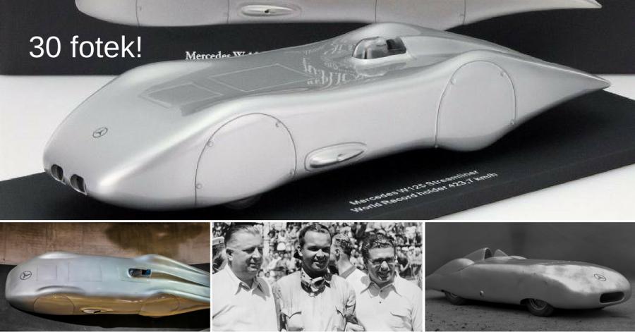 Speciální prototyp Mercedes-Benz V125 držel rychlostní rekord 80 let