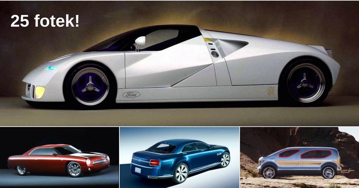 5 nejpovedenějších konceptů značky Ford od roku 1958 do současnosti