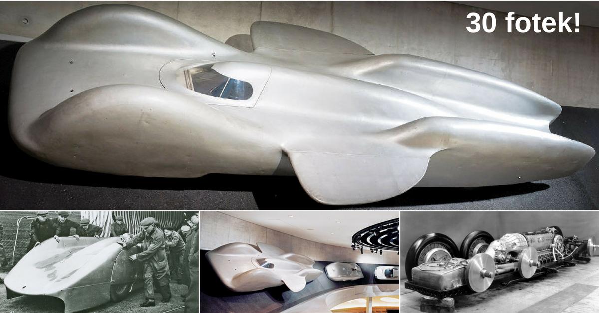 Mercedes-Benz T80 - rychlostní rekord, který zhatila 2. světová válka