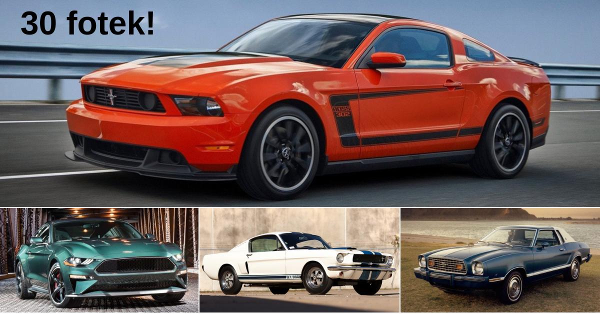 Mustang - všechny generace od roku 1964 až do současnosti
