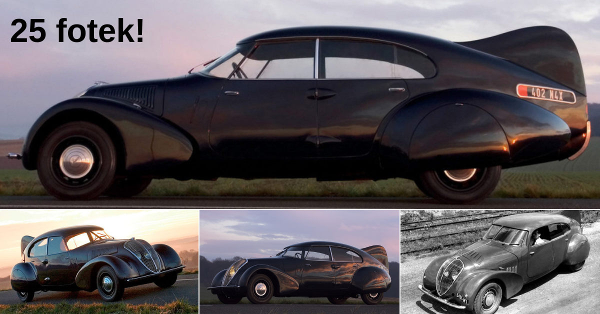 Peugeot 402 Andreau - inspirováno Tatrou 77?