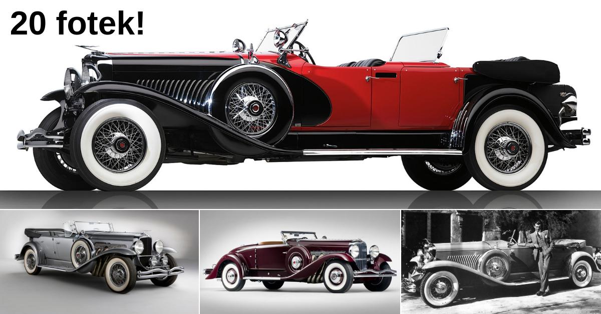 Duesenberg Model J - nejrychlejší americké auto 30. let