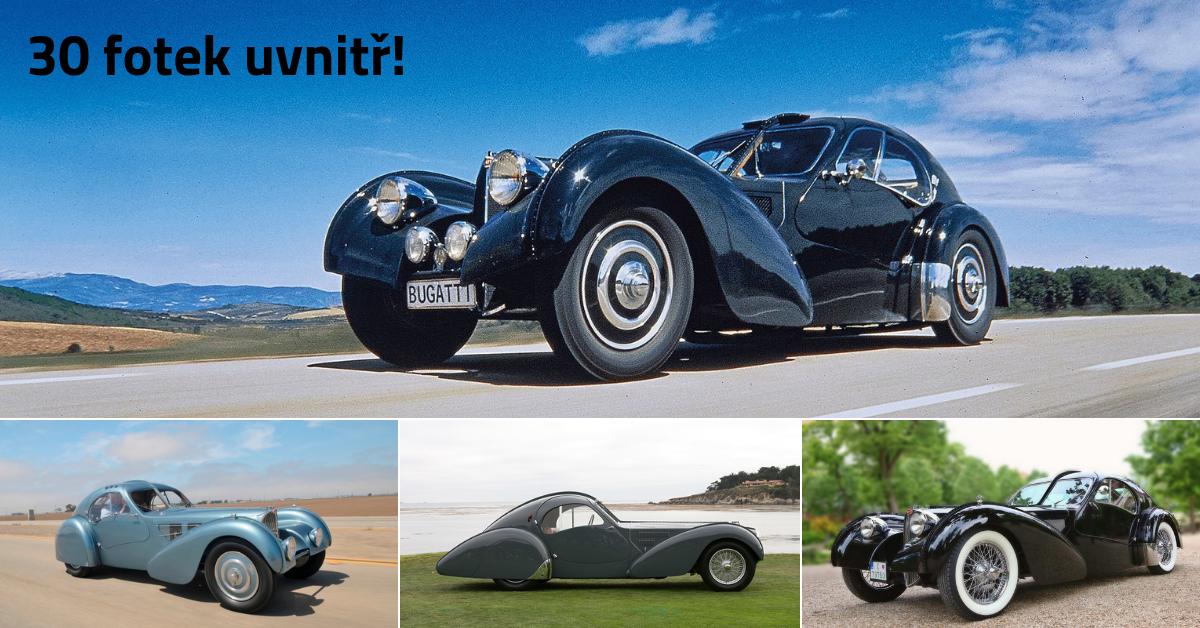 Bugatti 57 SC Atlantic - luxusní kupé snů