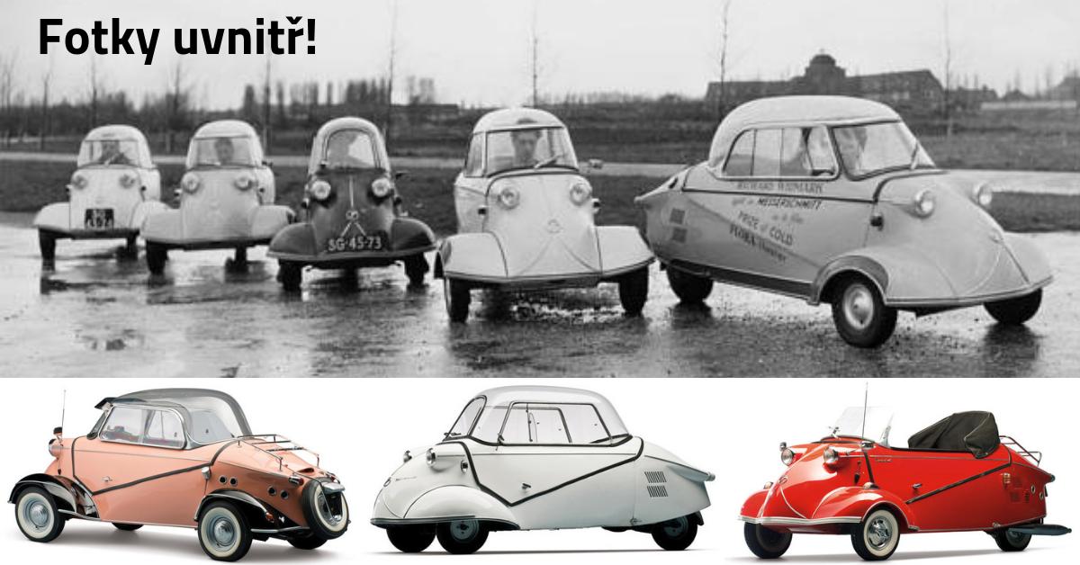 Messerschmitt KR175 a KR200 - malá jako motocykl, ale o dost pohodlnější