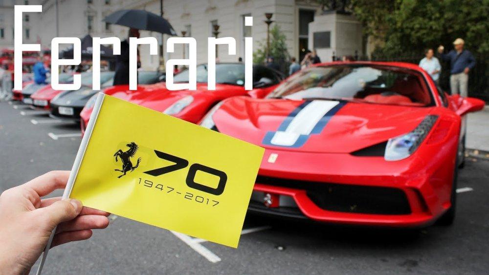 Ferrari slaví 70 let. Prohlédněte si nejlepší fotografie z oslav