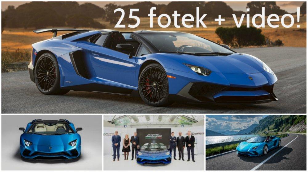 Lamborghini slaví! Velkým překvapením 50. výročí se stal speciál Aventador S Roadster