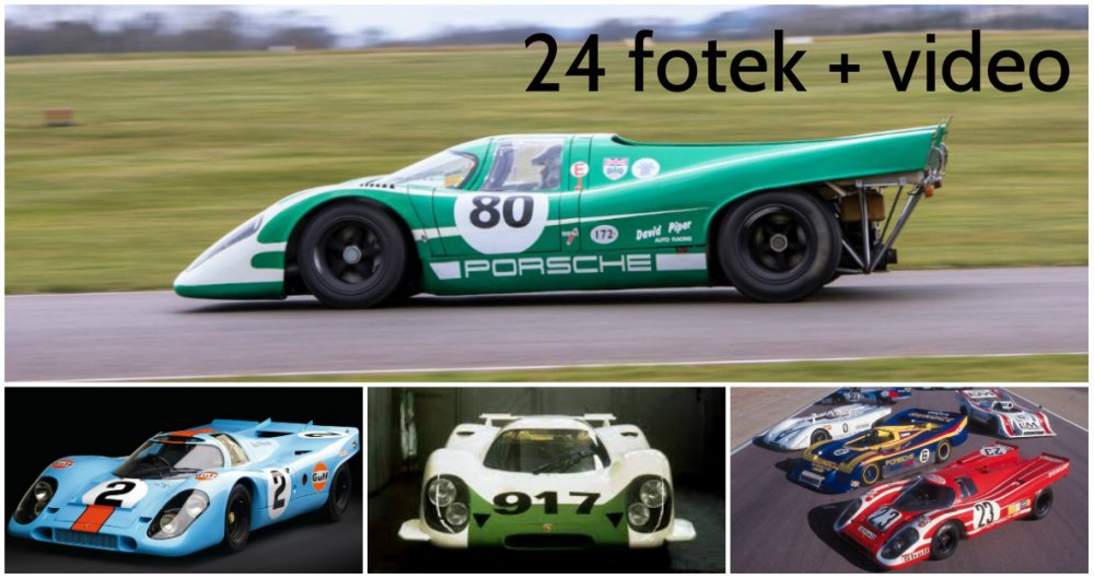 """Legendární Porsche 917 - zrození a vítězství """"bestie na kolech"""""""