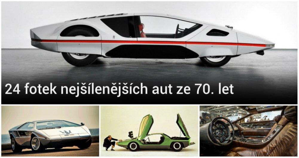 """3 nejšílenější """"klínovitá"""" auta ze 70. let"""